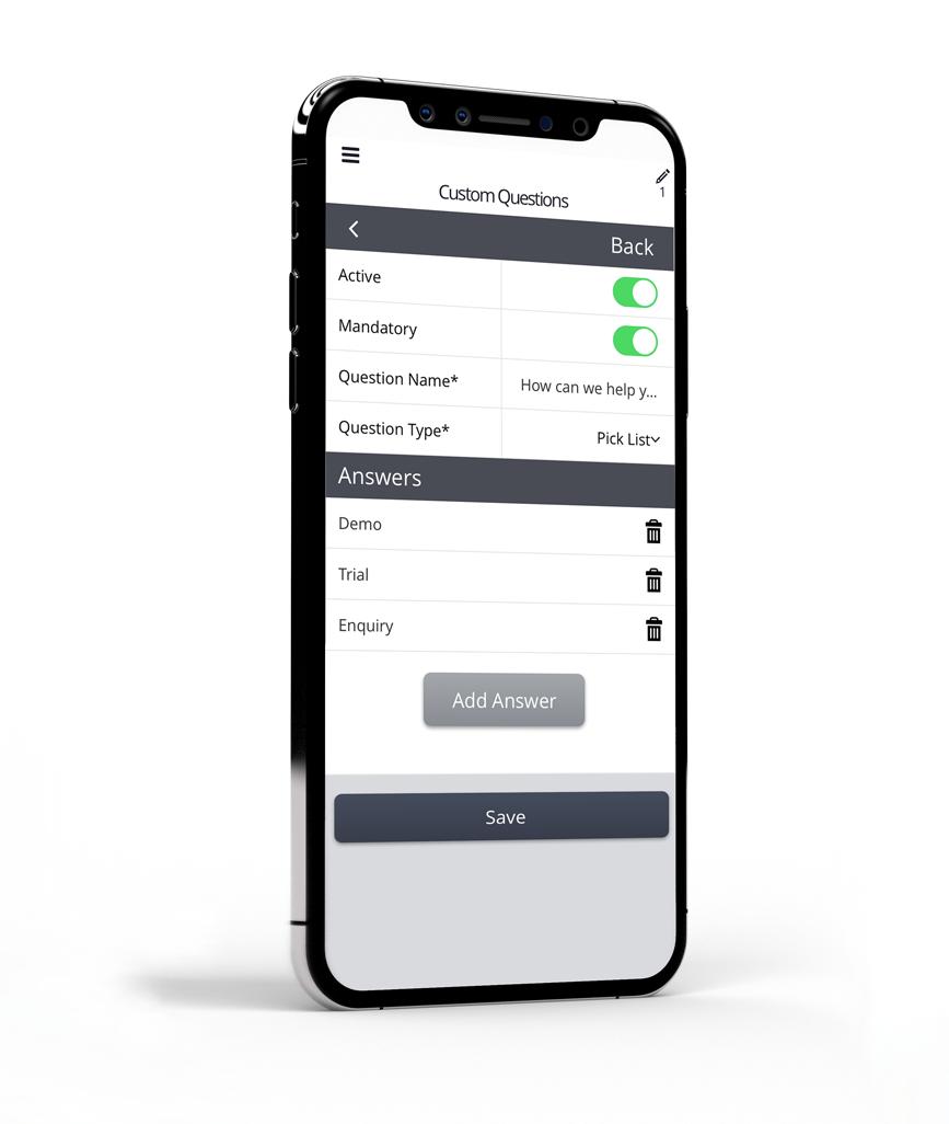 Gather phone mockup facing right edit update